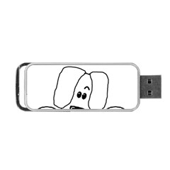 Peeping White Havanese Portable USB Flash (Two Sides)