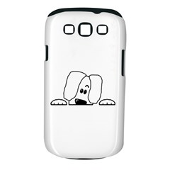 Peeping White Havanese Samsung Galaxy S III Classic Hardshell Case (PC+Silicone)