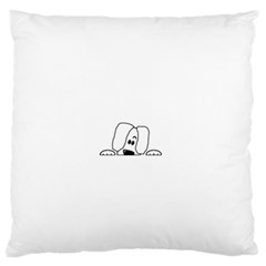 Peeping White Havanese Standard Flano Cushion Cases (Two Sides)