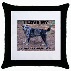 Catahoula Love With Picture Throw Pillow Cases (Black)