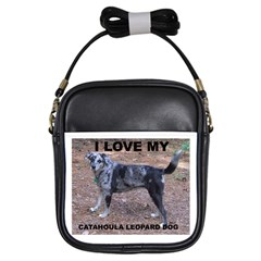 Catahoula Love With Picture Girls Sling Bags