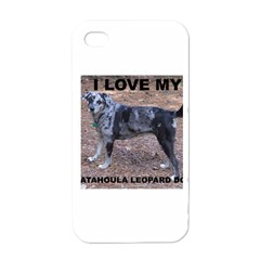 Catahoula Love With Picture Apple iPhone 4 Case (White)