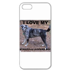 Catahoula Love With Picture Apple Seamless iPhone 5 Case (Clear)