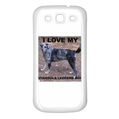 Catahoula Love With Picture Samsung Galaxy S3 Back Case (White)