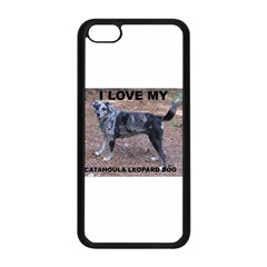 Catahoula Love With Picture Apple iPhone 5C Seamless Case (Black)