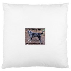 Catahoula Love With Picture Standard Flano Cushion Cases (Two Sides)