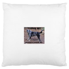 Catahoula Love With Picture Large Flano Cushion Cases (Two Sides)