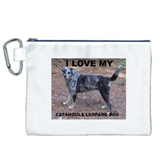 Catahoula Love With Picture Canvas Cosmetic Bag (XL)