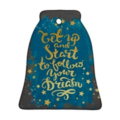 Let Up And Start(gold)2 Bell Ornament