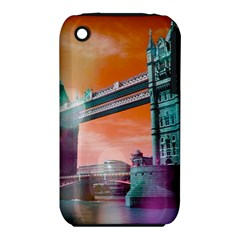 London Tower Bridge, Bokeh Orange Apple Iphone 3g/3gs Hardshell Case (pc+silicone)