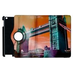 London Tower Bridge, Bokeh Orange Apple Ipad 3/4 Flip 360 Case