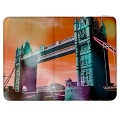 London Tower Bridge, Bokeh Orange Samsung Galaxy Tab 7  P1000 Flip Case