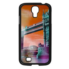 London Tower Bridge, Bokeh Orange Samsung Galaxy S4 I9500/ I9505 Case (Black)