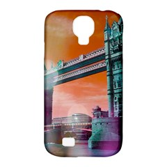 London Tower Bridge, Bokeh Orange Samsung Galaxy S4 Classic Hardshell Case (PC+Silicone)