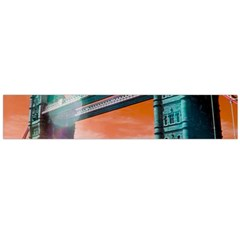 London Tower Bridge, Bokeh Orange Flano Scarf (Large)