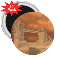 London Tower Bridge Special Effect 3  Magnets (10 pack)
