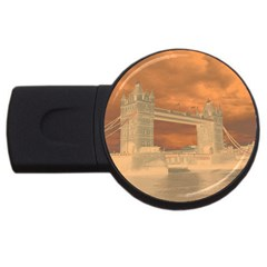 London Tower Bridge Special Effect USB Flash Drive Round (2 GB)