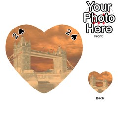 London Tower Bridge Special Effect Playing Cards 54 (Heart)