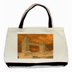 London Tower Bridge Special Effect Basic Tote Bag (Two Sides)