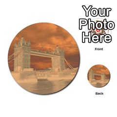 London Tower Bridge Special Effect Multi-purpose Cards (Round)