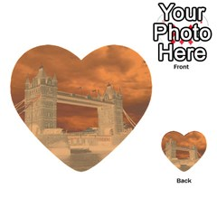 London Tower Bridge Special Effect Multi-purpose Cards (Heart)
