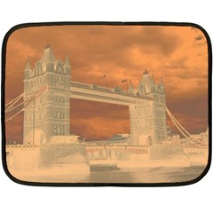 London Tower Bridge Special Effect Fleece Blanket (Mini)