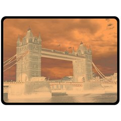 London Tower Bridge Special Effect Fleece Blanket (Large)