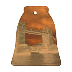 London Tower Bridge Special Effect Bell Ornament (2 Sides)