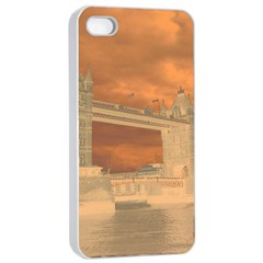 London Tower Bridge Special Effect Apple iPhone 4/4s Seamless Case (White)