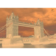 London Tower Bridge Special Effect Birthday Cake 3D Greeting Card (7x5)