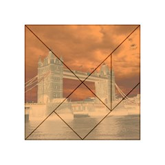 London Tower Bridge Special Effect Acrylic Tangram Puzzle (4  x 4 )