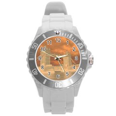 London Tower Bridge Special Effect Round Plastic Sport Watch (L)