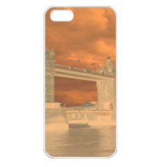 London Tower Bridge Special Effect Apple iPhone 5 Seamless Case (White)