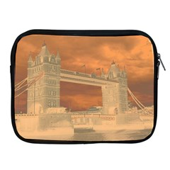London Tower Bridge Special Effect Apple iPad 2/3/4 Zipper Cases