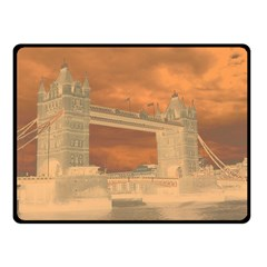 London Tower Bridge Special Effect Double Sided Fleece Blanket (Small)
