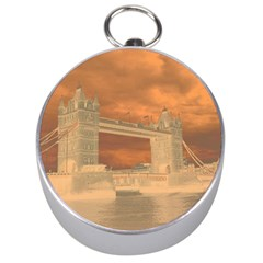 London Tower Bridge Special Effect Silver Compasses