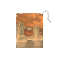 London Tower Bridge Special Effect Drawstring Pouches (Small)