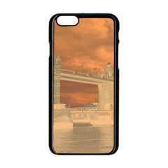 London Tower Bridge Special Effect Apple Iphone 6/6s Black Enamel Case