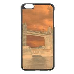London Tower Bridge Special Effect Apple Iphone 6 Plus/6s Plus Black Enamel Case