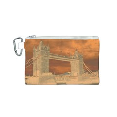 London Tower Bridge Special Effect Canvas Cosmetic Bag (S)