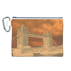 London Tower Bridge Special Effect Canvas Cosmetic Bag (L)