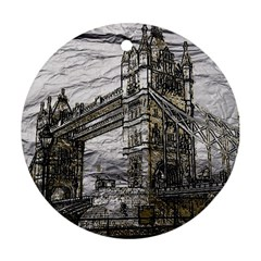 Metal Art London Tower Bridge Ornament (Round)