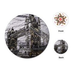 Metal Art London Tower Bridge Playing Cards (round)