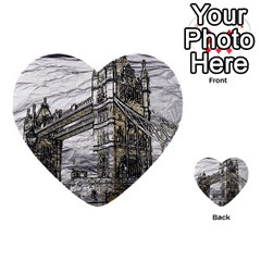Metal Art London Tower Bridge Multi Purpose Cards (heart)