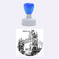 Metal Art London Tower Bridge Rubber Round Stamps (medium)