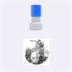 Metal Art London Tower Bridge Rubber Round Stamps (Small)