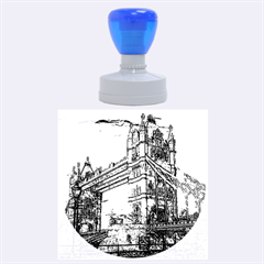 Metal Art London Tower Bridge Rubber Round Stamps (Large)