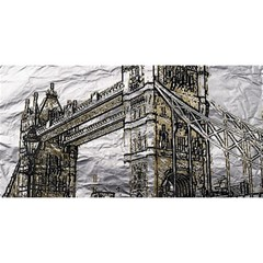 Metal Art London Tower Bridge YOU ARE INVITED 3D Greeting Card (8x4)