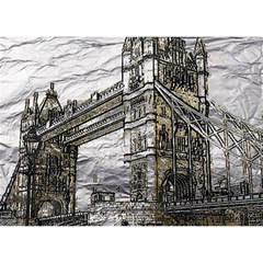 Metal Art London Tower Bridge Birthday Cake 3d Greeting Card (7x5)