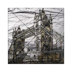 Metal Art London Tower Bridge Acrylic Tangram Puzzle (6  x 6 )